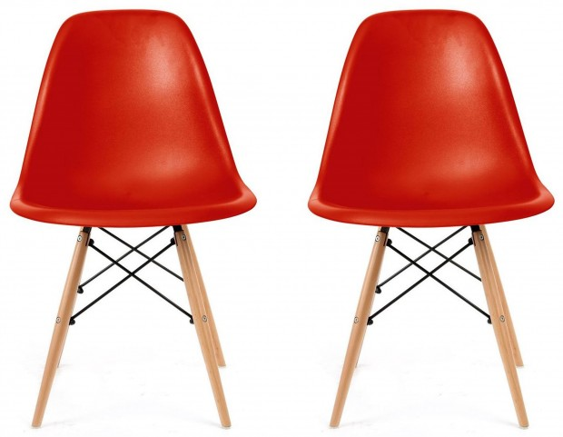 Euro Home Paris 2 Red Chair Set of 2