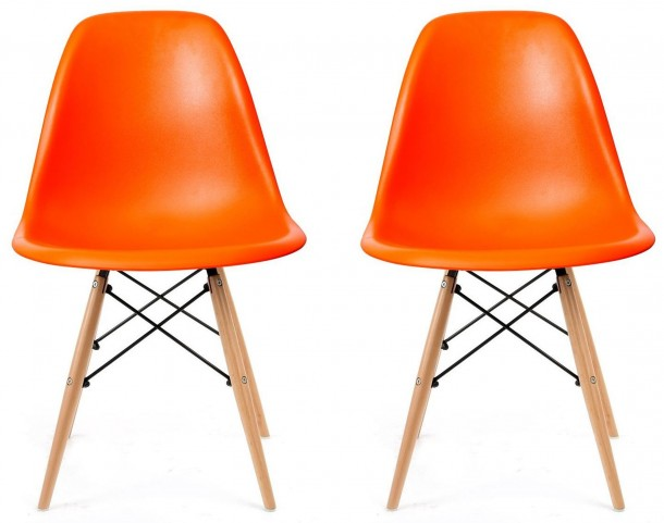 Euro Home Paris 2 Orange Chair Set of 2