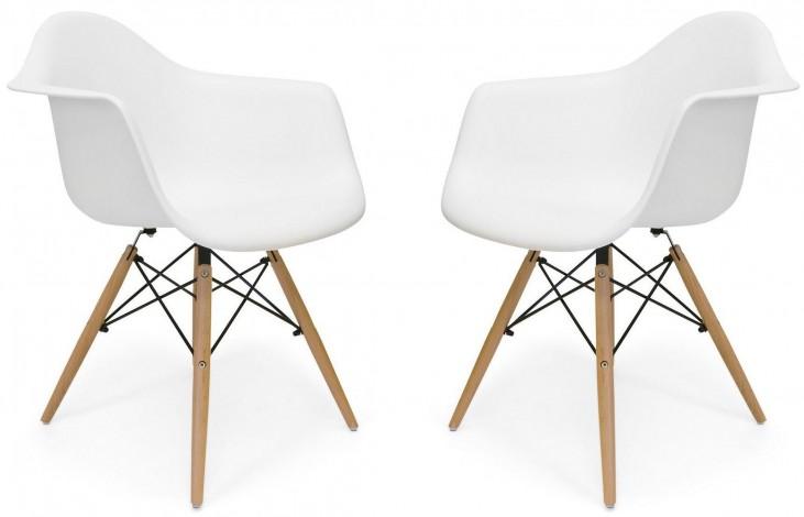Euro Home Dijon White Chair Set of 2