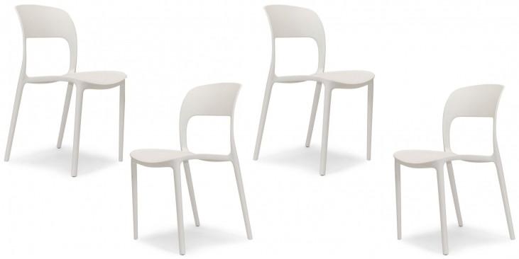 Euro Home Ronnie White Chair Set of 4