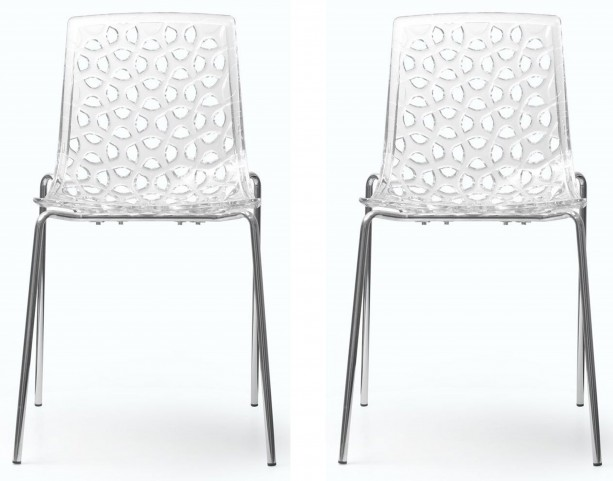 Euro Home Dakota Clear Chair Set of 2