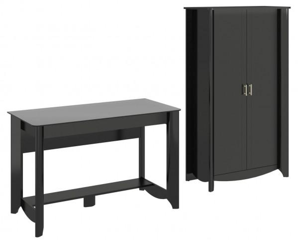 Aero Classic Black Desk With Tall Storage