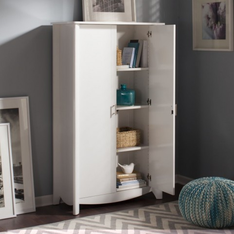 Aero White 2-Door Tall Storage
