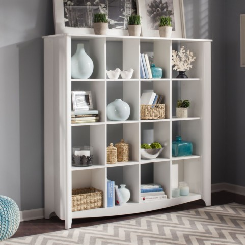 Aero White 16-cube Bookcase / Room Divider