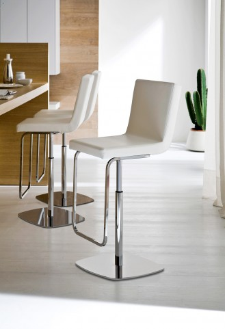 Afro White Swivel Stool