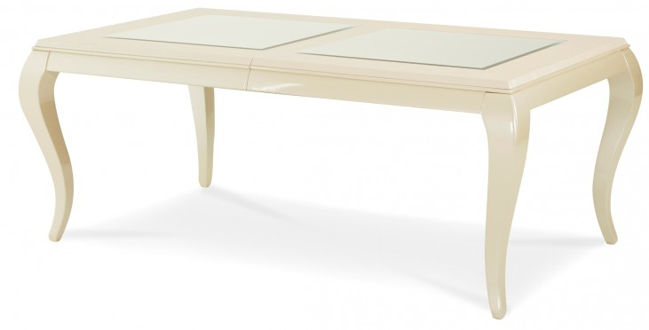 After Eight Pearl Leg Rectangular Dining Table from Aico (19000-12) | Coleman Furniture