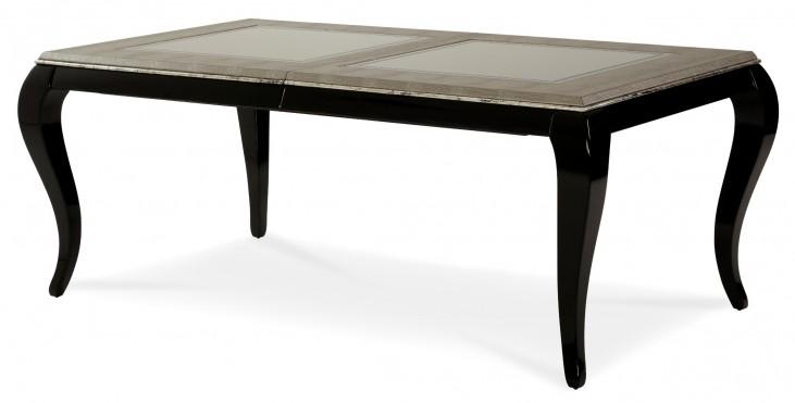 After Eight Titanium Leg Rectangular Dining Table
