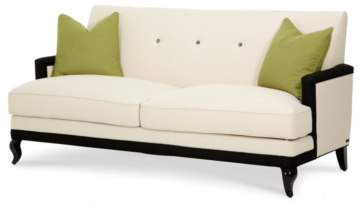 After Eight Sofa with Green Cushions