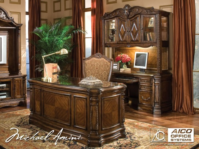 Windsor Court Home Office Set from Aico (70207) | Coleman Furniture