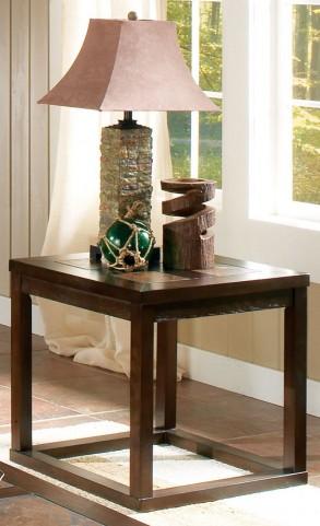 Alberto Brown Oak End Table