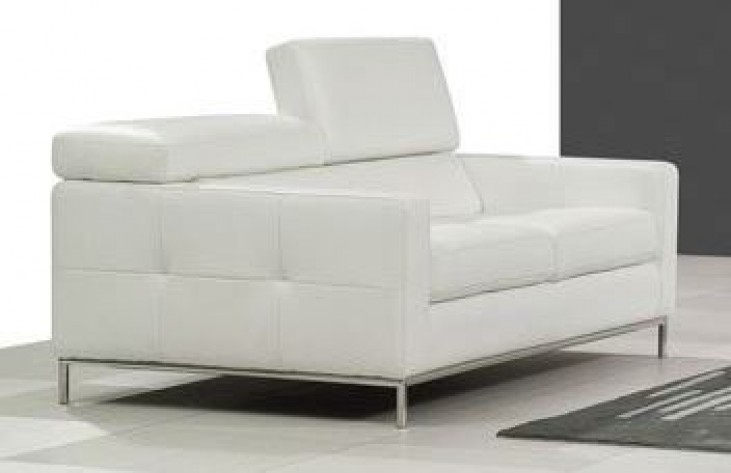 Alison White Loveseat