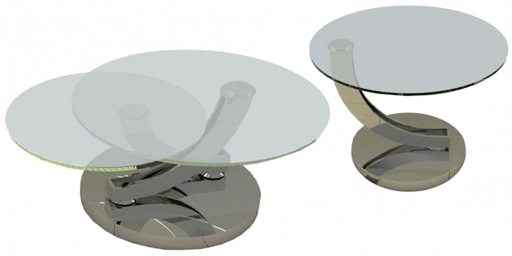 Allure Clear Glass Occasional Table Set