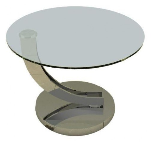 Allure Clear Glass End Table