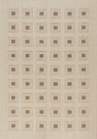 Alpha Beige/Multi Squares Flatweave Medium Rug