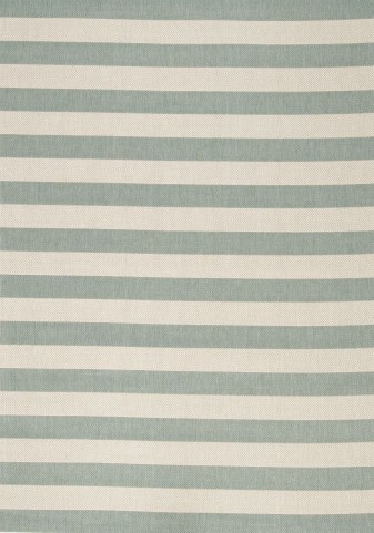 "Alpha Nautical Stripes Teal 94"" Rug"