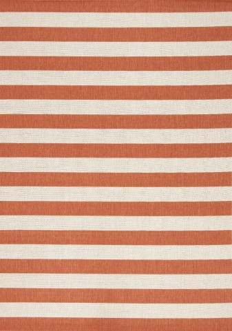 "Alpha Nautical Stripes Orange 63"" Rug"