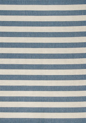 """Alpha Nautical Stripes Blue 94"""" Rug"""