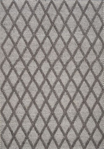 Alpine Grey Lattice Large Rug