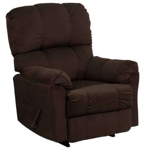 Top Hat Chocolate Microfiber Rocker Recliner