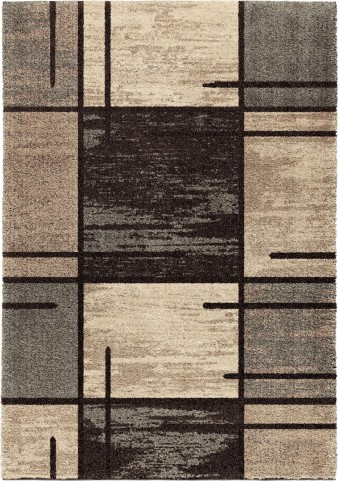 Orian Rugs Plush Pile Blocks Armada Gray Area Large Rug