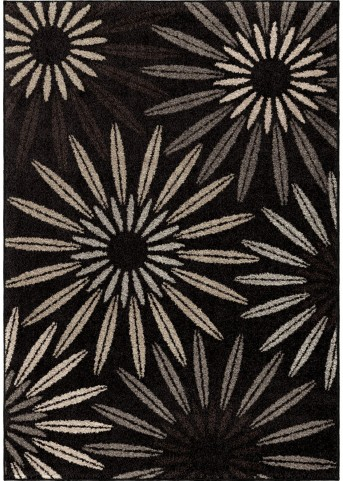 Orian Rugs Floral Floral Halley Black Area Small Rug