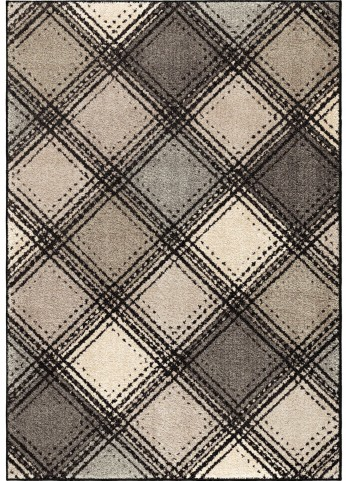 Orian Rugs Plush Pile Boxes Soho Diamonds Gray Area Small Rug