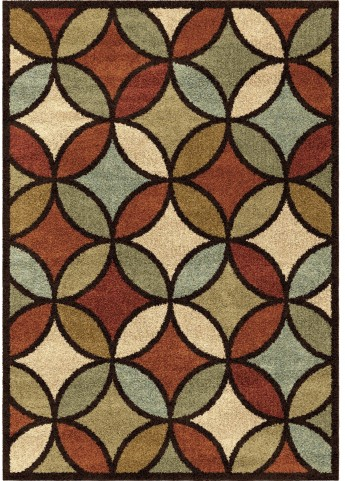Orian Rugs Geometric Trellis Funhouse Multi Area Small Rug