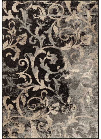 Orian Rugs Plush Pile Scroll Distressed Scroll Multi Area Small Rug