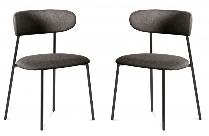 Anais Flirt Brown Lacquered Steel Chair Set of 2