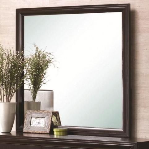 Andreas Cappuccino Square Dresser Mirror