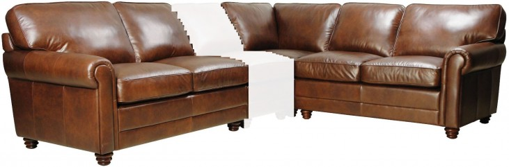 Andrew 3 Piece Italian Leather Sectional