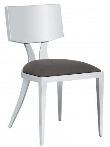 Angelina Grey Fabric Dining Chair Set of 2