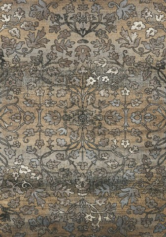 "Antika Intricate Flowers 67"" Floor Cloth Rug"
