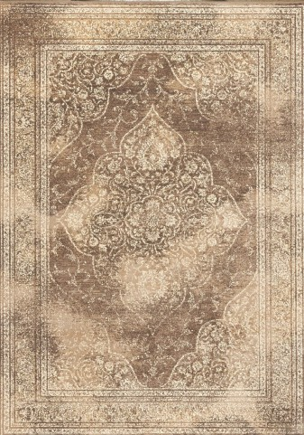 "Antika Beige Old World 79"" Floor Cloth Rug"