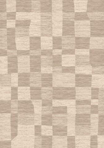 Antika Beige/Taupe Stone Wall Floor Cloth Large Rug