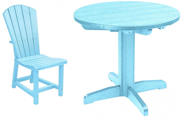 "Generations Aqua 32"" Round Pedestal Dining Room Set"