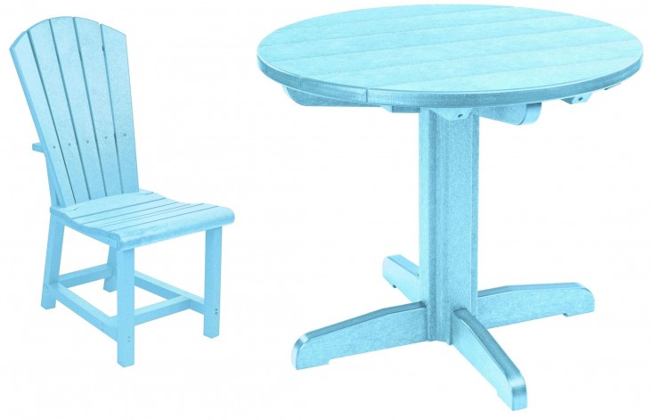 "Generations Aqua 37"" Round Pedestal Dining Room Set"