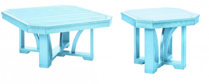 "St Tropez Aqua 35"" Occasional Table Set"
