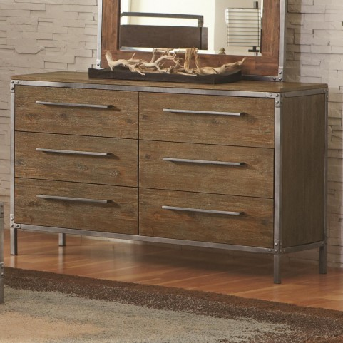 Arcadia Weathered Acacia 6 Drawer Dresser