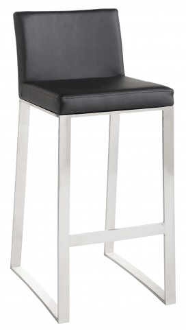 Architect Black Barstool