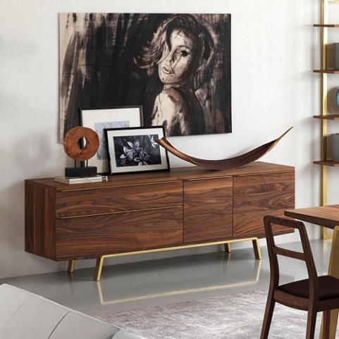 Arco Walnut Veneer Sideboard