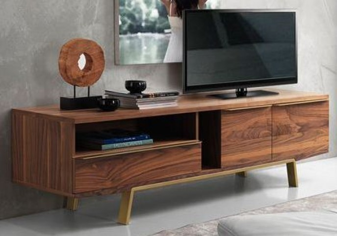 Arco Walnut Veneer 81'' TV Stand