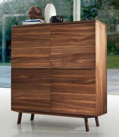 Arco Walnut Veneer Cabinet
