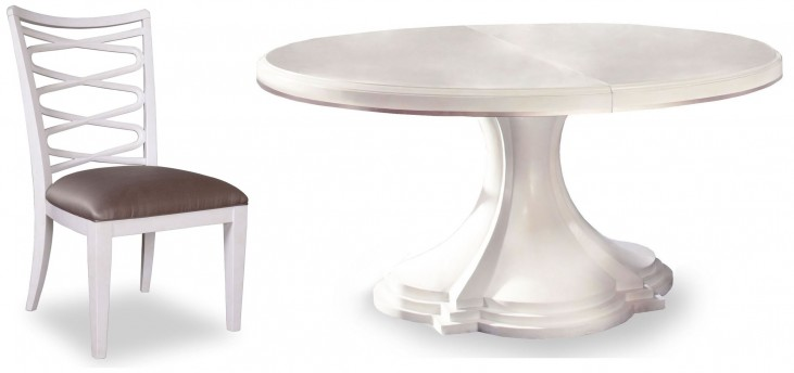 Cosmopolitan Parchment Round Dining Room Set