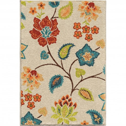Full Bloom Ivory Small Rug