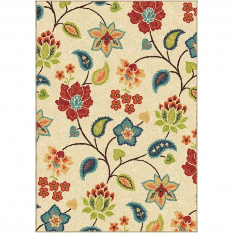 Full Bloom Ivory Large Rug