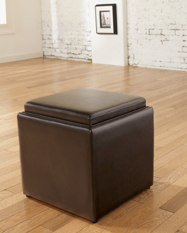 Cubit Chocolate Ottoman With Flip Top