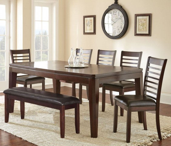 Allison Espresso Extendable Rectangular Dining Room Set