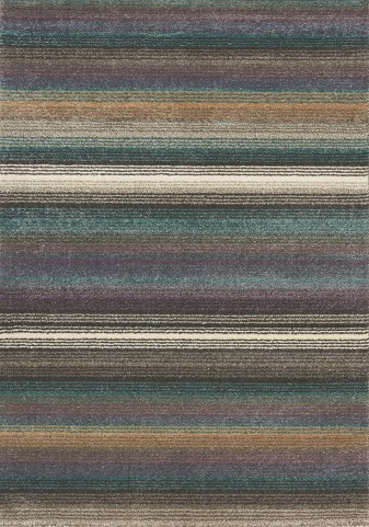 Ashbury Blue/Brown Fabric Medium Rug