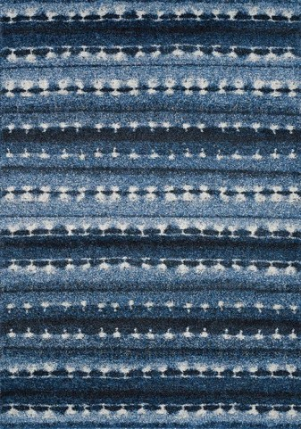 Ashbury Blue and White Winter Blanket Large Rug